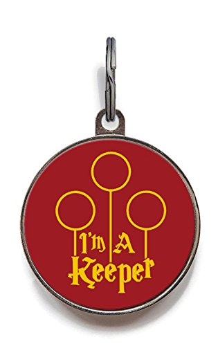 Image of I'm A Keeper Pet Tag Cat Tag Dog Tag Custom Pet Tag (Large)