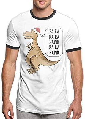 Patrick R Garrett Dinosaurios Cantando Camiseta Camisetas Moda Hombre Camiseta Campana Camiseta de Manga Corta cómoda Top: Amazon.es: Deportes y aire libre
