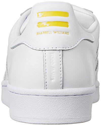 Adidas Originals SUPERSTAR PHARRELL Scarpe Sneakers Pelle Bianco per Unisex