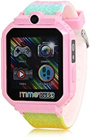 iTIME Kids Smart Watch for Kids with Camera, Speaker, Body Temperature Sensor, Pedometer Step Counter, Stopwat