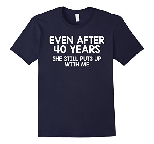 Mens Funny Forty Year Anniversary Gift T-Shirt, 40th Anniversary XL Navy