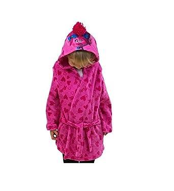 Trolls The Movie Kids Albornoz y bata de forro polar con capucha para niños rosa rosa 8-9 Años: Amazon.es: Ropa y accesorios