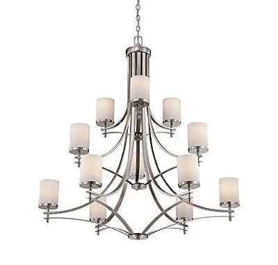 Savoy House 1-332-12-SN Colton 12 Light Chandelier in Satin Nickel