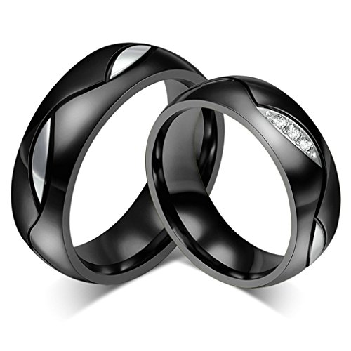 [Aooaz Free Engraving Ring 316L Stainless Steel Ring Matching Set Couple Wedding Bands For Women Size] (Paper Bag Princess Couples Costume)