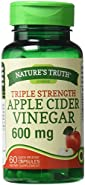 Nature's Truth Triple Strength Apple Cider Vinegar Quick Release Capsules,600 mg,60 ea