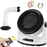 Space Heater Fan Electric Small Heater with Timer and Remote,CITUS Indoor Ceramic Heater with Heat Pipe for Drying,1000 Watt