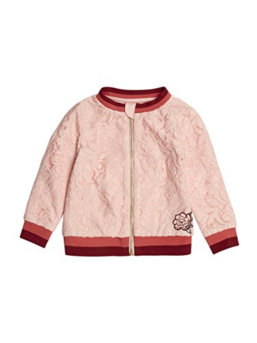 GUESS Little Girls' Long Sleeve Lace Jacket, Pink Cadillac, 2 -