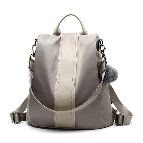 Lady Bolso Lona Capacidad Mochila De Mochila Escuela Shoulder Grey De De Bag Gran HqUW8Hrzw