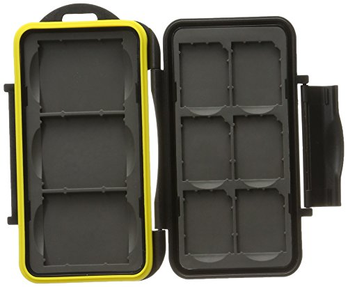 JJC MC-SD6CF3 Rugged Water-Resistant Memory Card Case fits 3x CF / 6x SD Cards