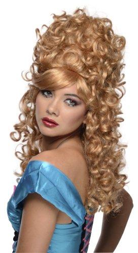 Burlesque Costume Accessories Halloween (Rubie's Costume Burlesque Wig, Light Brown, One)