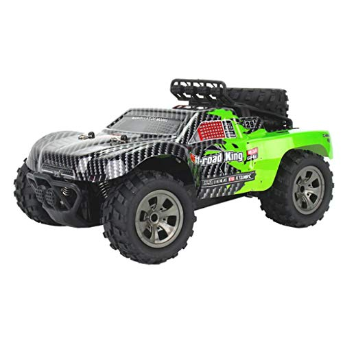 1:18 2WD RC Car,High Speed Racing Off Road Vehicle Toy Remote Control Car for Adults + Kids (1885-B Green)