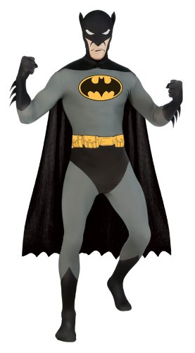 R880519 (XL) Batman 2ND Skin Adult Costume (Batman 2nd Skin Costume)