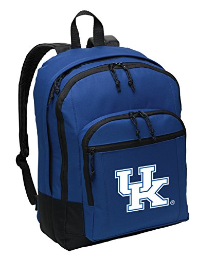 Broad Bay Kentucky Wildcats Backpack Classic Style Medium Size with Laptop Sleeve (Ncaa Bag Laptop Kentucky Wildcats)