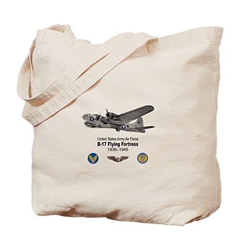 - CafePress B-17 Flying Fortress T-Shirts Natural Canvas Tote Bag, Cloth Shopping Bag