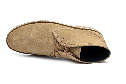 Men's PRATIK Vandir Desert Leather Suede Chukka Boots Sand Suede PgJTM0