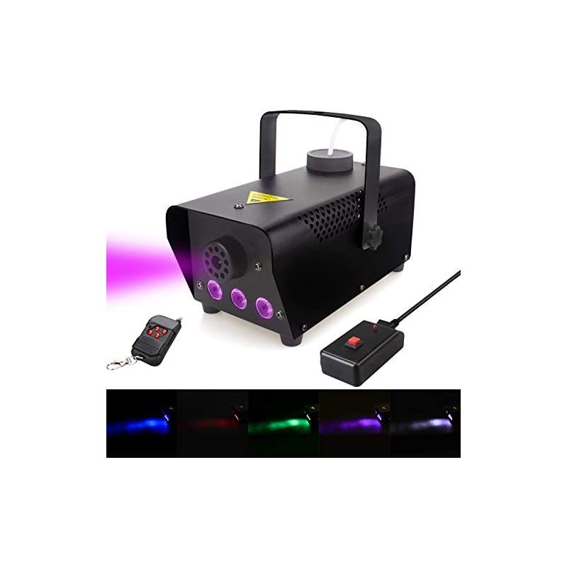 Fog Machine with lights, 400-Watt Portab