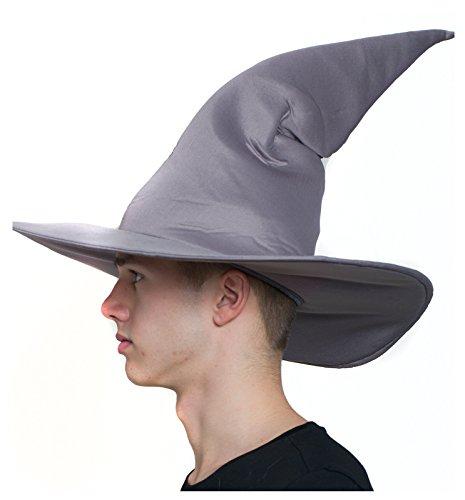 [Wire Brim Wizard Hat (Gray)] (Frodo Costume Mens)