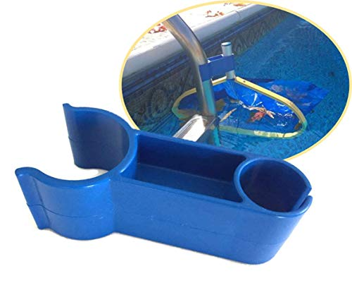 Leaf Bone - Leaf Net Skimmer Clip, Pool Net Ladder Attachment (Net Sold Separately), Automatic Pool Cleaner, Collects More Than Skimmer Basket (Ccw Top End)