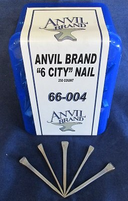 Anvil Brand 6 City Head Horseshoe Nails 250 Count Box by Anvil Brand