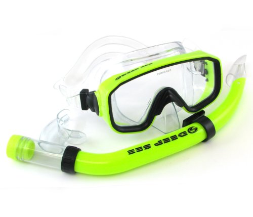 Deep See Adventure Snorkeling Non-Silicone Set (Yellow) - Deep See Adventure Mask