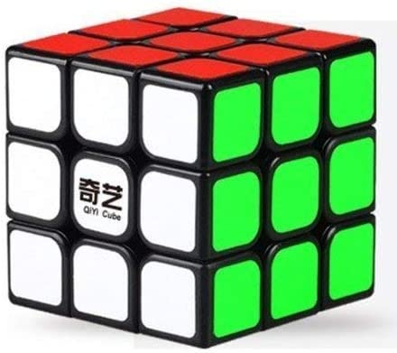 IndiaBuy 3x3x3 QIYI Black Background Rubiks Magic Smooth Speed Cube 3D-Puzzle Cube Recommended for 3-99 yrs