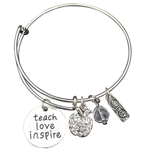 Teacher Bangle Bracelet-Teacher Gift, Teacher Jewelry, Show Your Teacher Appreciation, Thank You Gifts for Teachers