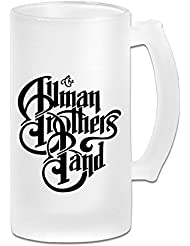 White The #194; #160;Allman Brothers #194; #160;Band Sab04Fl Personalized Frosted Beer Mug 16 Oz