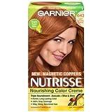 Garnier Nutrisse Nourishing Color Creme Hair Color - Light Natural Copper 643 (Pack of 3)