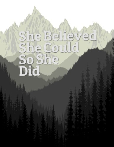 "She Believed She Could So She Did: Quote journal for girls Notebook Composition Book Inspirational Quotes Lined Notebook (8.5""x11"") Large (Mavis Notebook) (Volume 14)"