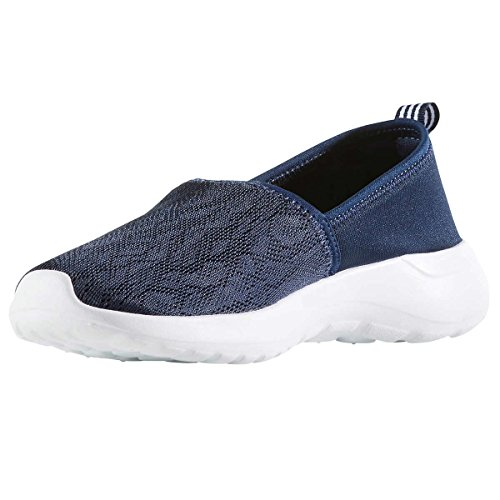 adidas Women Cloudfoam Lite Racer Slip On Shoes, Navy/White, 6.5 B(M) US