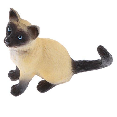 Perfk おもちゃ 屈する 猫 可愛い リアル 現実的 子供 動物モデル 知育の商品画像