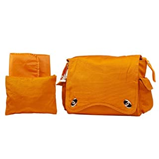 Kalencom Water Repellant Messenger Bag, Pumpkin