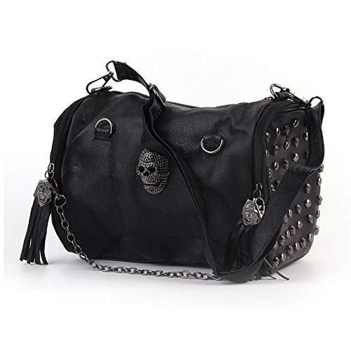 Tutte le donne abbinate Skull Rivet Nappe Shoulder Bag Handbag Crossbody Black Portable Adatto per varie occasioni Nowakk