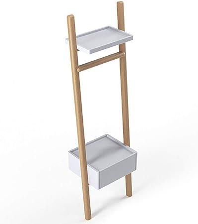 AOCT SHOP-Bedside table Soporte De ExhibicióN De Unidad De EstanteríA De Escalera De Color Blanco Mesita De Noche con CajóN - Estante para EstanteríA De EstanteríA: Amazon.es: Hogar