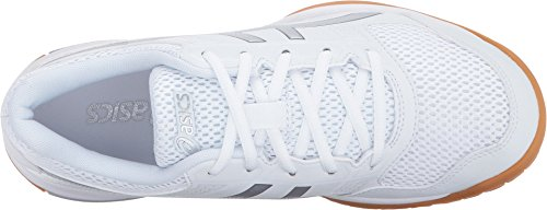 ASICS Womens Gel-Rocket 8 Volleyball Shoe, Silver/White, 8.5 Medium US