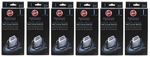 Hoover Type I HEPA Bag , AH10005 (6 Packs of 2: Total 12 bags)