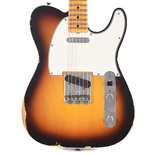 (Fender CS 2019 Time Machine 1965 Telecaster Relic Custom Faded 3-Color Sunburst (Serial #CZ539661))
