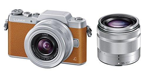 Panasonic mirrorless SLR camera DMC-GF7 double zoom lens kit standard zoom lens / telephoto zoom lens accessories Brown DMC-GF7W-T - International Version (No Warranty)