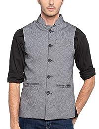 nick&jess Mens Grey Nehru Jacket