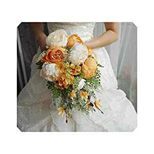 Wedding Bouquets Artificial Bride Flowers Wedding White Water Droplets Waterfall Flowers Bridal Bouquets 102