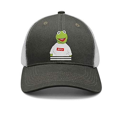 Unisex Baseball Caps Sesame-Street-Kermit-The-Frog-Clothes- Trucker Hat Adjustable Snapback Hats