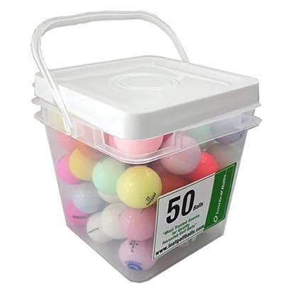 50 Crystal Mixed Model Mint Aaaaa Used Golf Balls In Free Bucket