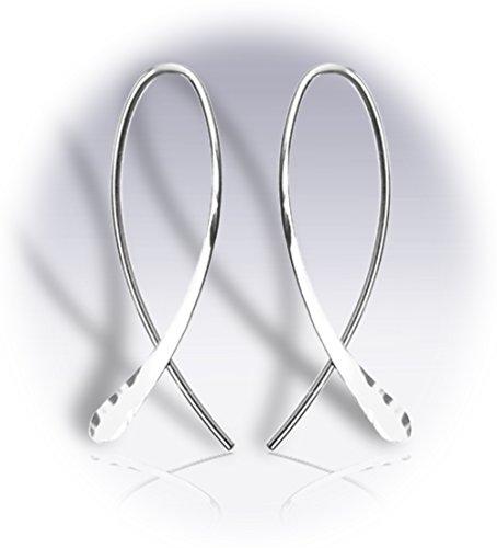 RIBBONXSSS Ribbon Earrings extra short Sterling - Silver Earrings Ribbon
