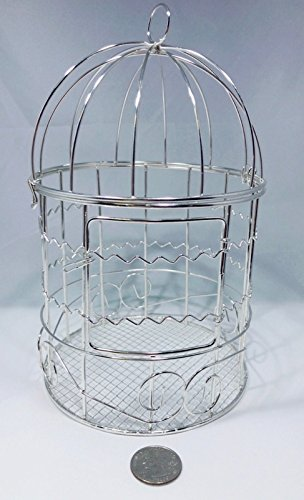 Ben Collection Small Metal Bird Cages for Wedding Favors, Party Decorations & Crafts (Small Decorative Bird Cages)