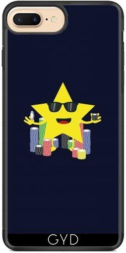 Coque Silicone pour Iphone 7 Plus / 8 Plus - Bonne étoile Avec Des Jetons De Poker by ilovecotton