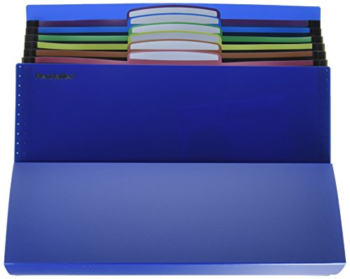 - Pendaflex 51068 Desktop File, Six Pockets, Poly, Letter, Blue