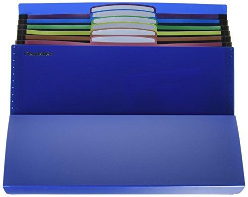 (Pendaflex 51068 Desktop File, Six Pockets, Poly, Letter, Blue)