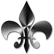 Stainless Steel Look: Fleur De Lis Sticker (Non-Reflective - vinyl decal)