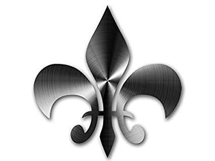 Louisiana Fleur-de-Lis Chrome Car Emblem