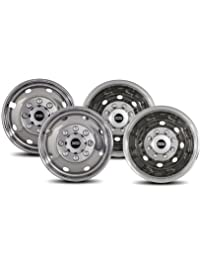 Pacific Dualies 34-1608A Polished 16 Inch 8 Lug Stainless Steel Wheel Simulator Kit for 1992-2007 Ford E350/E450 Van